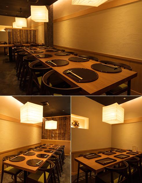 1階 6テーブル席23名様